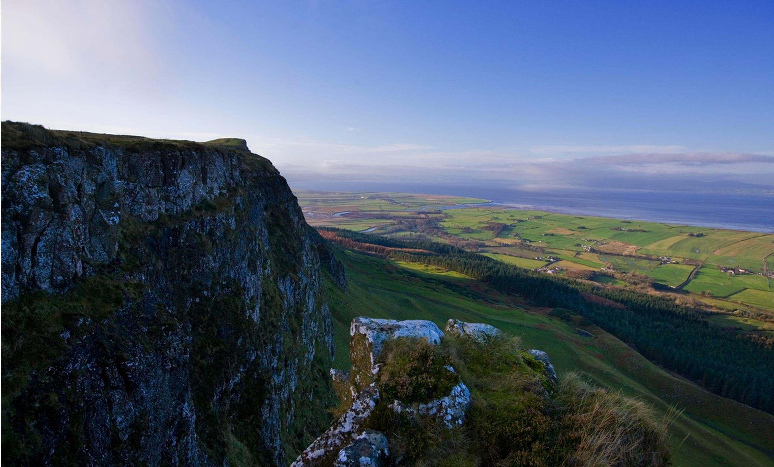View from top of a mountain in Northern Ireland